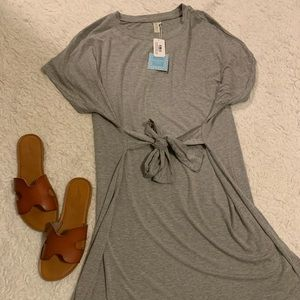 BRAND NEW Tie Front T-shirt Dress
